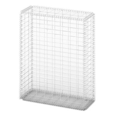 vidaXL Gabion košara s pokrovi pocinkana žica 100 x 80 x 30 cm[2/5]