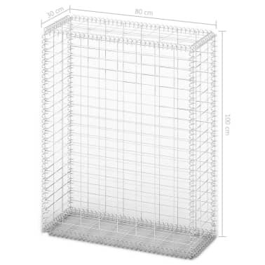vidaXL Gabion košara s pokrovi pocinkana žica 100 x 80 x 30 cm[5/5]