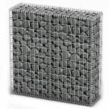 "vidaXL Gabion Basket with Lids Galvanized Wire 39.4""x39.4""x11.8"""