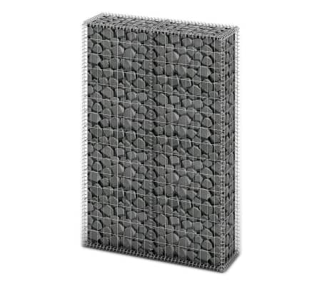 vidaXL Gabion Basket with Lids Galvanised Wire 150x100x30 cm