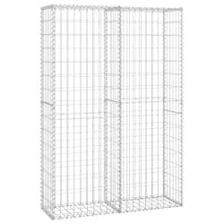 vidaXL Cesto gabião arame galvanizado 150 x 100 x 30 cm