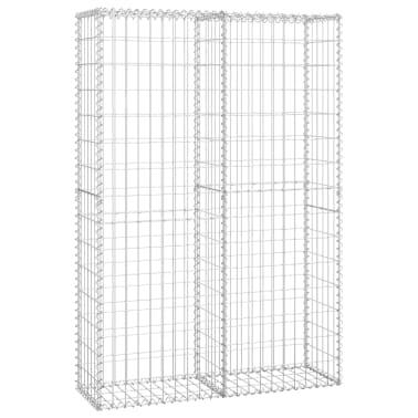 vidaXL Gabiono krepšys su dangčiu, cinkuota viela, 150 x 100 x 30 cm[1/5]