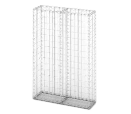 "vidaXL Gabion Basket with Lids Galvanized Wire 59""x39.4""x11.8""[2/5]"