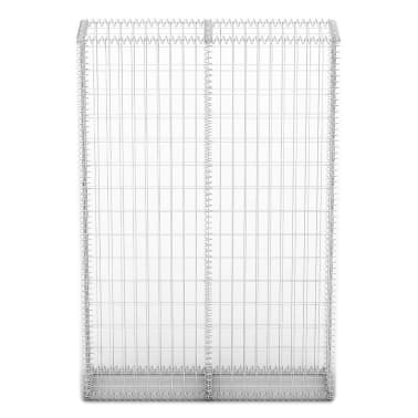 "vidaXL Gabion Basket with Lids Galvanized Wire 59""x39.4""x11.8""[3/5]"