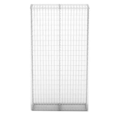 vidaXL Gabion Basket with Lids Galvanised Wire 200x85x30 cm[3/5]
