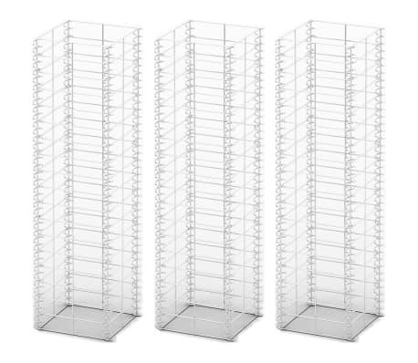 vidaXL Gabion Set 3 pcs Galvanised Wire 25 x 25 x 100 cm[2/3]