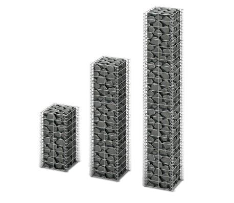 vidaXL 3 Piece Gabion Set Galvanised Wire[1/3]