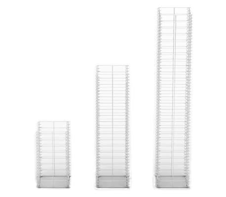 vidaXL 3 Piece Gabion Set Galvanised Wire[3/3]