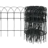 vidaXL Garden Border Fence Powder-coated Iron 10 x 0.4 m