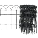vidaXL Garden Border Fence Powder-coated Iron 25x0.4 m