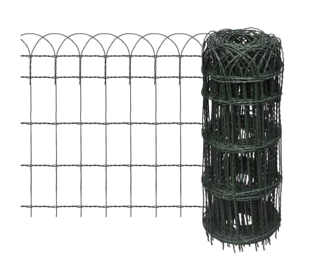 vidaXL Garden Border Fence Powder-coated Iron 25x0.65 m