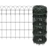 "vidaXL Garden Border Fence Powder-coated Iron 984.3""x25.6"""