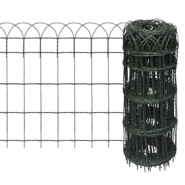 "vidaXL Garden Border Fence Powder-coated Iron 984.3""x25.6""[1/3]"