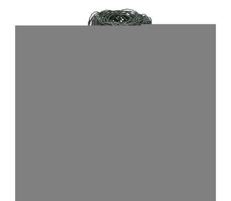 "vidaXL Garden Border Fence Powder-coated Iron 984.3""x25.6""[2/3]"