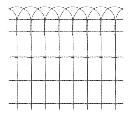"vidaXL Garden Border Fence Powder-coated Iron 984.3""x25.6""[3/3]"
