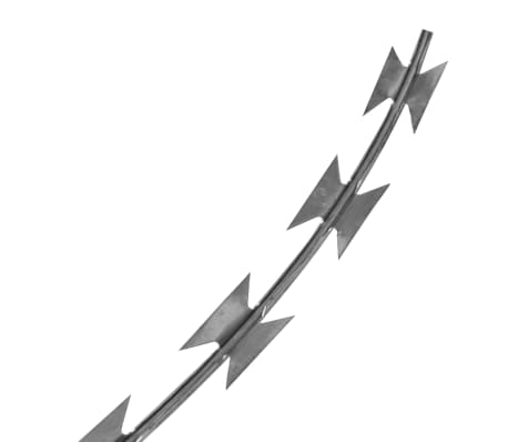NATO Razor Wire Helical Wire Roll Galvanized Steel 328'[3/4]