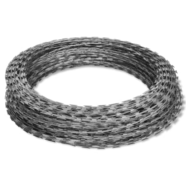 vidaXL Fil de fer barbelé NATO Rouleau hélicoïdal Acier galvanisé 100m[2/4]