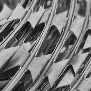 vidaXL Fil de fer barbelé NATO Rouleau hélicoïdal Acier galvanisé 100m[4/4]