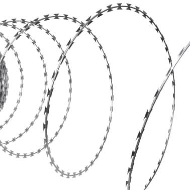 vidaXL Fil de fer barbelé NATO Rouleau hélicoïdal Acier galvanisé 60 m[1/4]