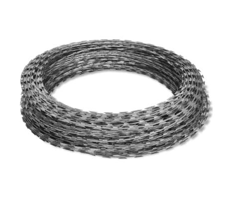vidaXL Fil de fer barbelé NATO Rouleau hélicoïdal Acier galvanisé 60 m[2/4]