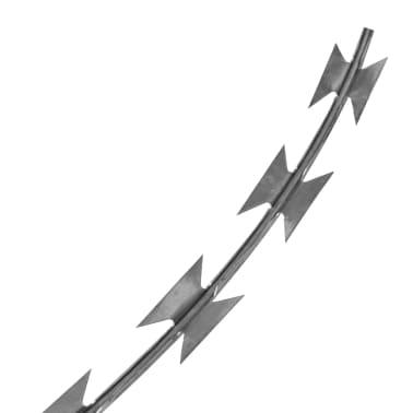 vidaXL natotråd galvaniseret stål rulle 60 m[3/4]