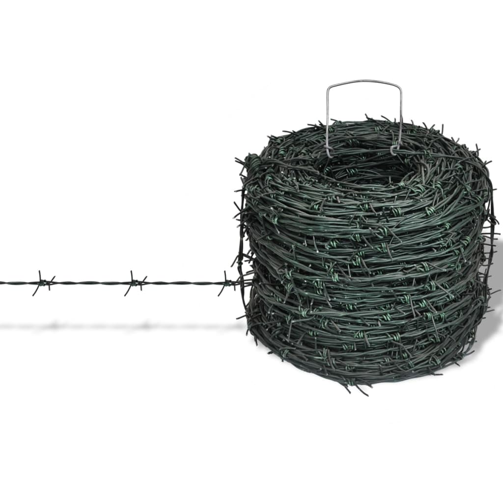 Green Barbed Wire Razor Fence Wall Animal Barb Fencing Security ...