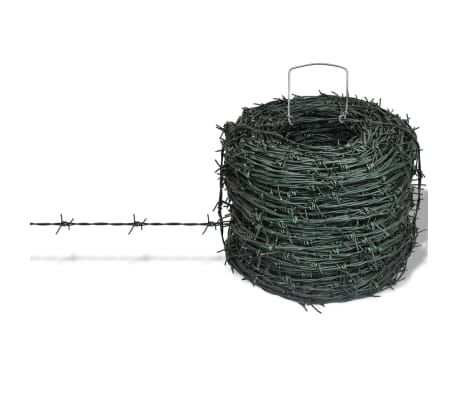 Barbed Wire Entanglement Wire Green Wire Roll 328 ft[1/3]