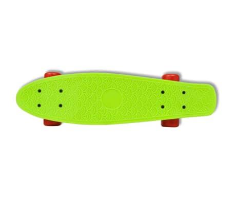 "vidaXL Retro pennyboard met groene bovenkant en rode wielen 6,1""[3/5]"