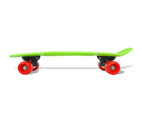 "vidaXL Retro pennyboard met groene bovenkant en rode wielen 6,1""[4/5]"
