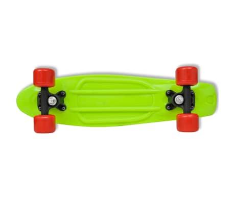 "vidaXL Retro pennyboard met groene bovenkant en rode wielen 6,1""[5/5]"