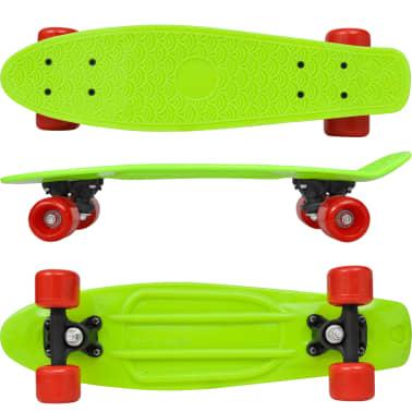 "vidaXL Retro pennyboard met groene bovenkant en rode wielen 6,1""[2/5]"