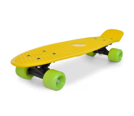 "Retro Skateboard with Yellow Top Green Wheels 6.1""[1/5]"
