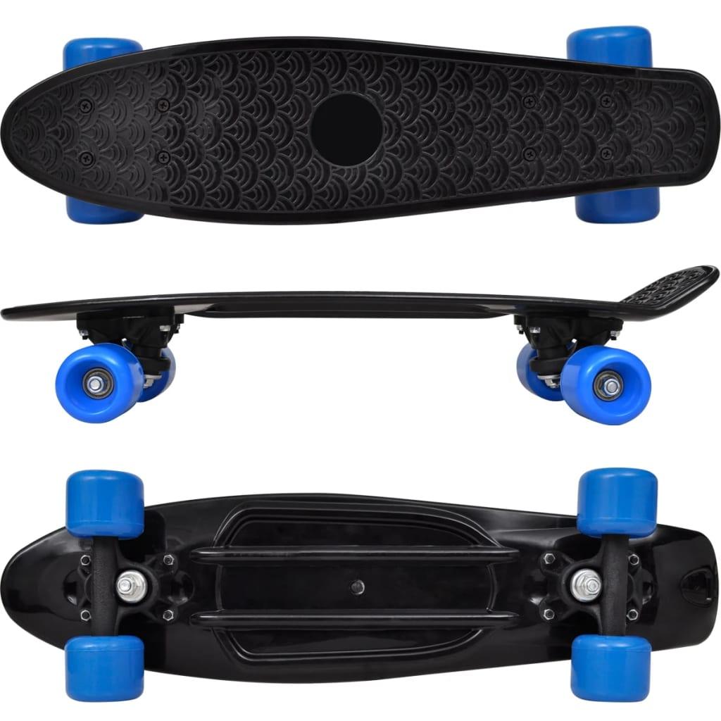 3f1cce5a3df vidaXL Retro rula musta pealse ja siniste ratastega