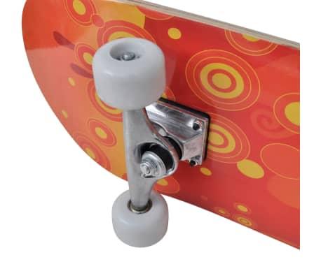 """vidaXL Oval Shape Skateboard 9 Ply Maple Fire Design 8""""[7/7]"""