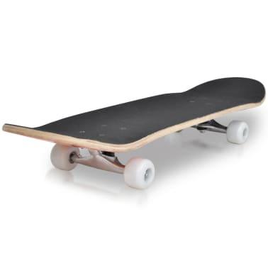 """vidaXL Oval Shape Skateboard 9 Ply Maple Fire Design 8""""[3/7]"""
