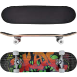 "vidaXL Skate oval, 9 camadas de bordo, design ""Graffiti"", 8"""