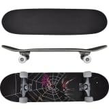"vidaXL Oval Shape Skateboard 9 Ply Maple Spider Design 8"""