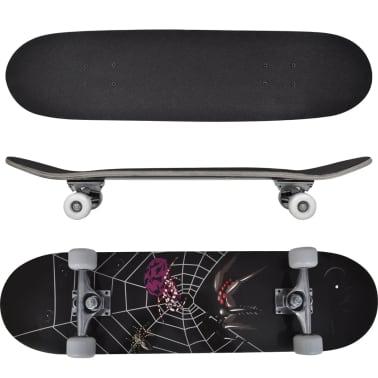 """vidaXL Ovaal skateboard met spinnen design 9-laags esdoorn hout 8""""[1/7]"""