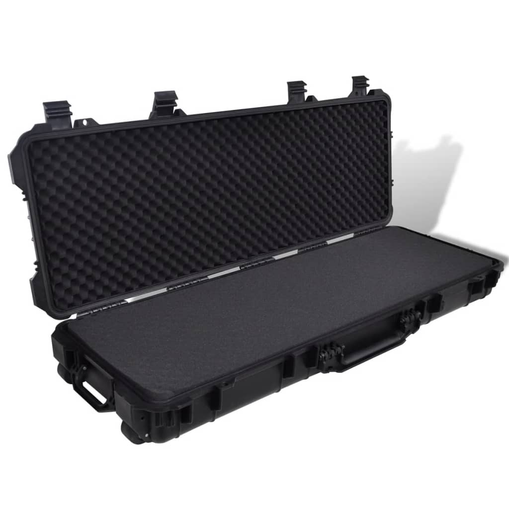 vidaXL Waterproof Plastic Molded Gun Case Trolly Carry