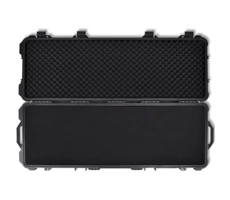 Waterproof Plastic Molded Gun Case Trolly Carry Case[6/9]