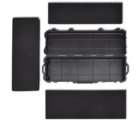 Waterproof Plastic Molded Gun Case Trolly Carry Case[7/9]