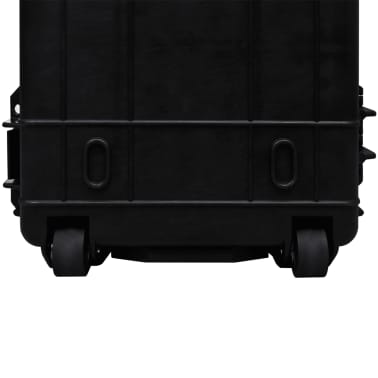 Waterproof Plastic Molded Gun Case Trolly Carry Case[9/9]