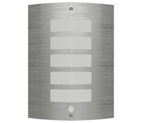 Sierlijke RVS wandlamp met bewegingssensor[1/6]