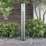 vidaXL udendørs havelampe stående rustfrit stål