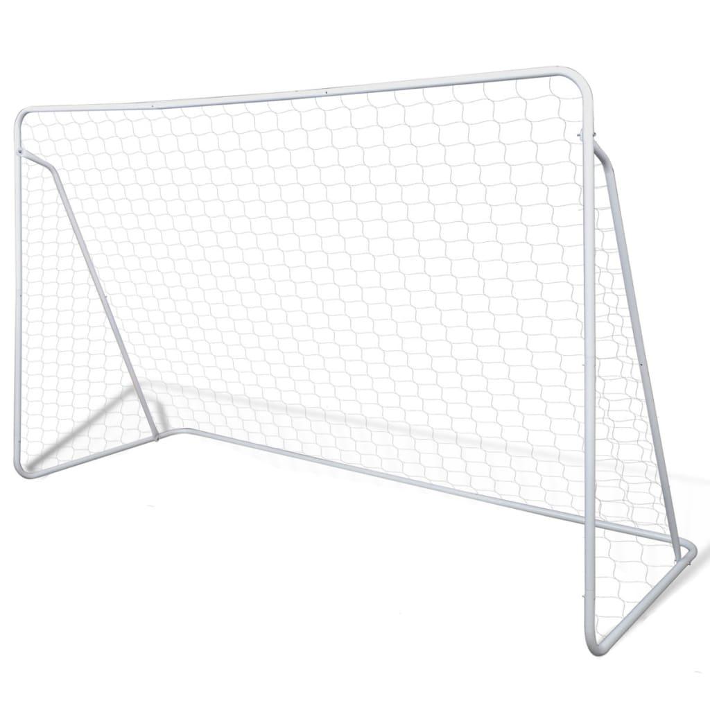Poartă de fotbal din oțel calitate superioară set 240 x 90 x 150 cm poza 2021 vidaXL