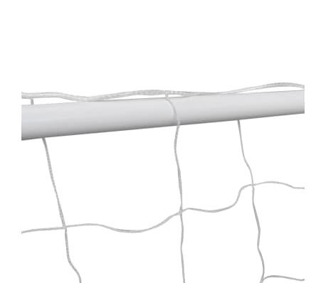 vidaXL Portería de fútbol con poste y red acero 240x90x150 cm[3/4]