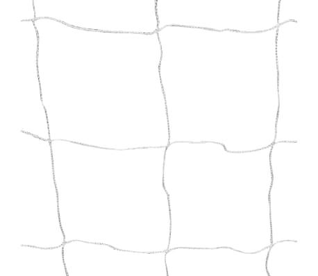 vidaXL Portería de fútbol con poste y red acero 240x90x150 cm[4/4]