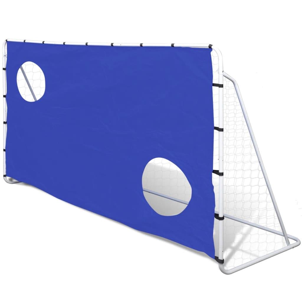Poartă de fotbal din oțel cu țintă 240 x 92 x 150 cm poza 2021 vidaXL