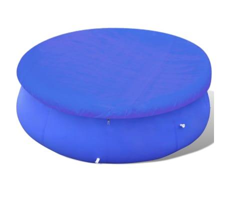 vidaXL Baseino uždangalas, PE, apvalus, 300 cm, 90 g/m²[2/6]
