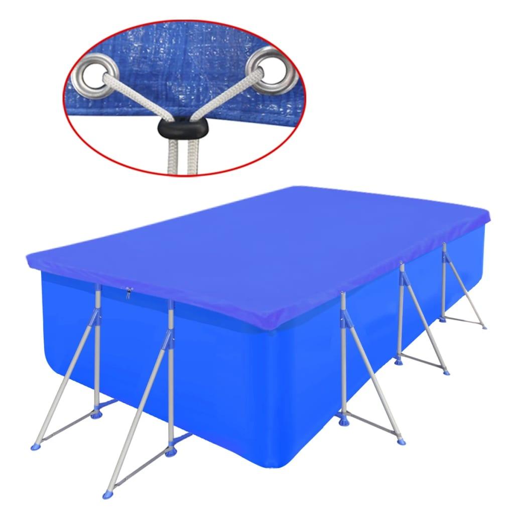 Obdélníková bazénová plachta z polyetylenu 90 g / m2 394 x 207 cm
